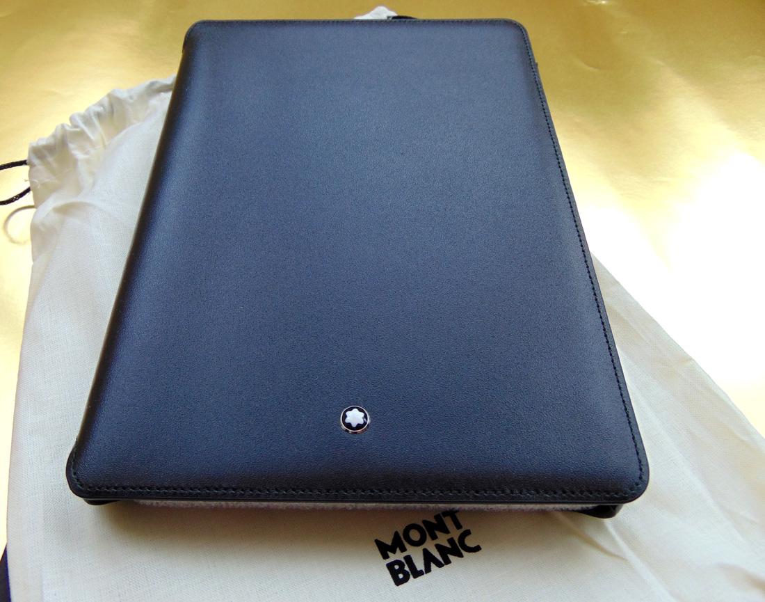 montblanc 111243 computer tablet pc ipad mini 3 h lle box schwarz neu np 270 ebay. Black Bedroom Furniture Sets. Home Design Ideas