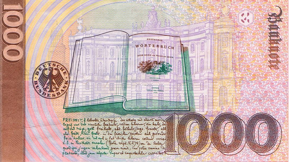 ... MARK GELDSCHEIN PAPIERGELD BRD GELD 1991 ECHTER 1000 DM SCHEIN - eBay
